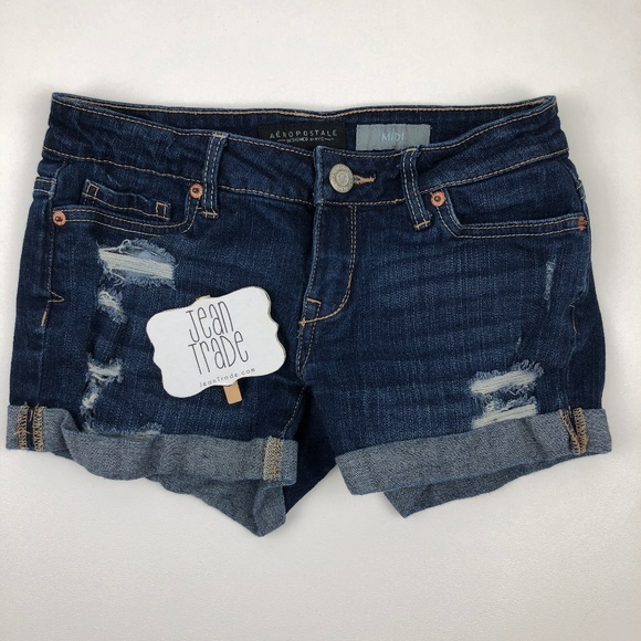 Aeropostale Pants - SALE Aeropostale Midi Distressed Jean Short